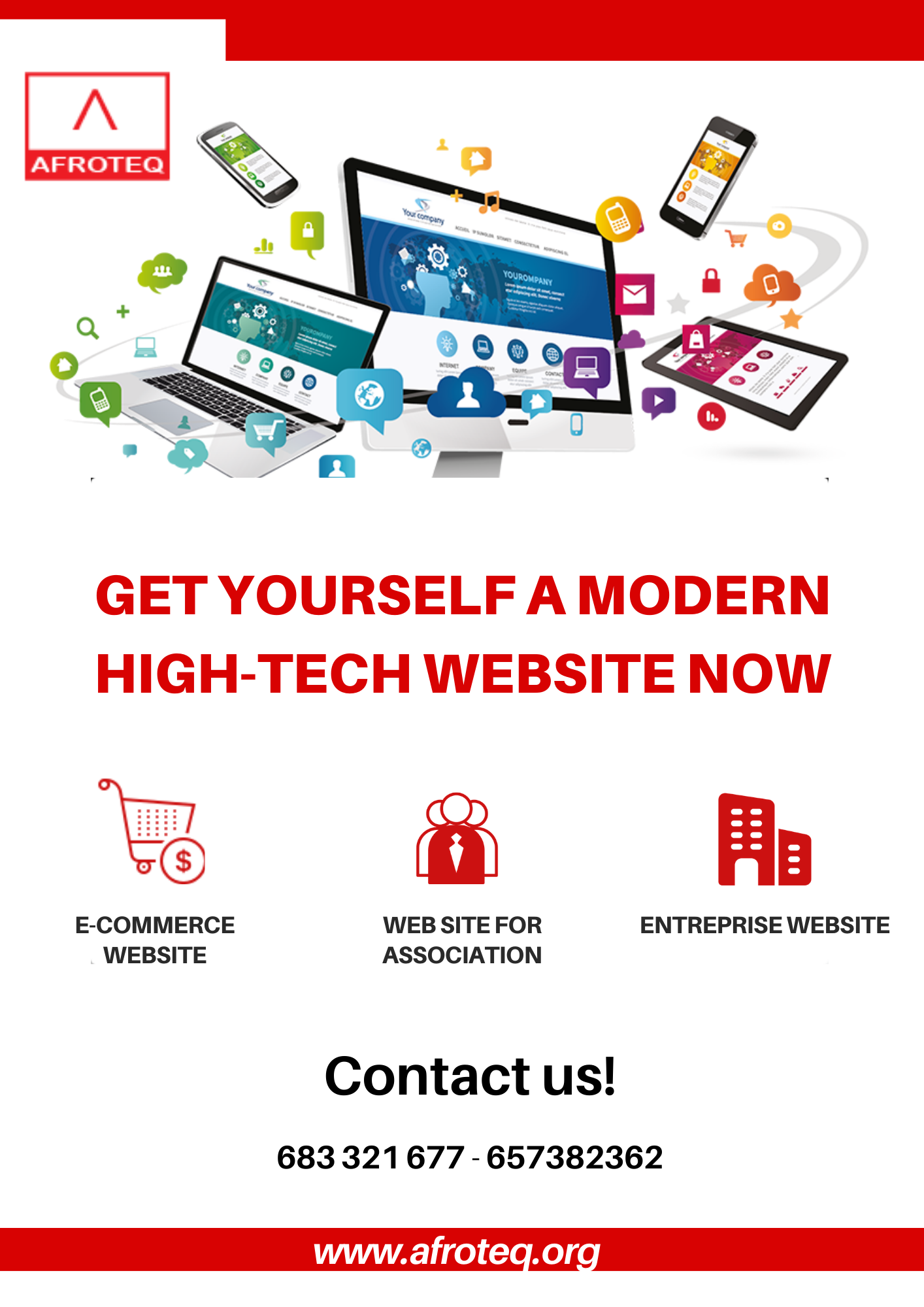 Afroteq Website Offer Flyer